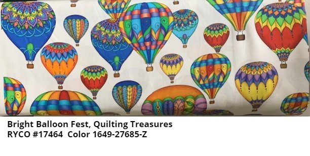 Bright Balloon Fest by Quilting Treasures