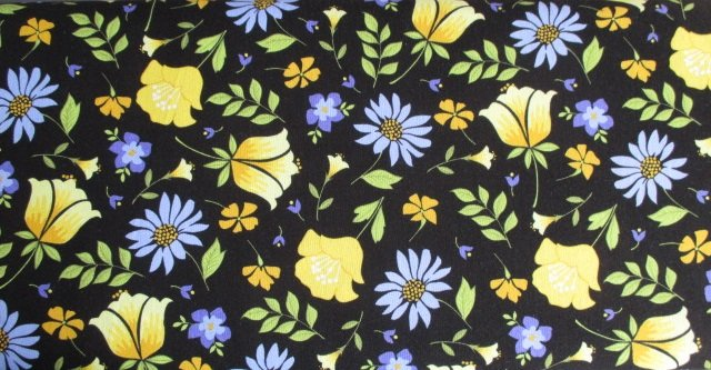 Meadow Sweets by Penny Rose Fabrics (C5650-BLACK)
