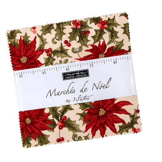 MARCHES de Noel Charm pack by 3 sisters for Moda