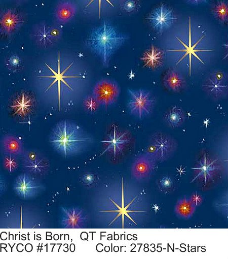 Christ is Born by Quilting Treasures