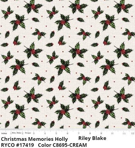 CHRISTMAS MEMORIES  by Riley Blake ( C8695-cream)