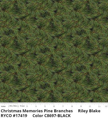 CHRISTMAS MEMORIES  by Riley Blake ( C8697-BLACK)