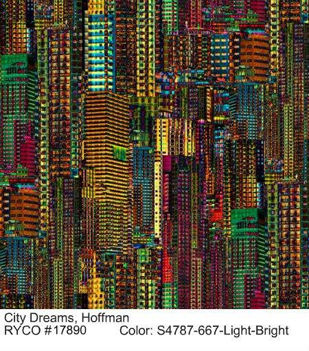 City Dreams by Hoffman Fabrics