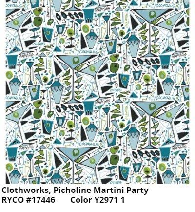 PICHOLINE MARTINI PARTY BY AMY WEBER WHITE & CLOTHWORKS (2971-1 WHITE)