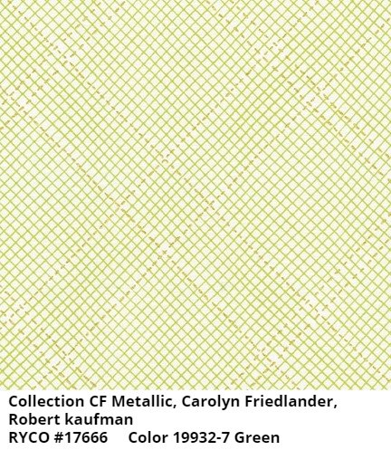 Collection CF Metallic by Carolyn Friedlander for Robert Kaufman