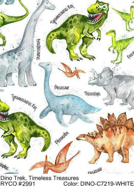 Dino Trek by Timeless Treasures