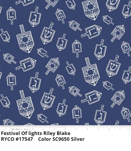 Festival of Lights by Tara Reed for Riley Blake- Silver