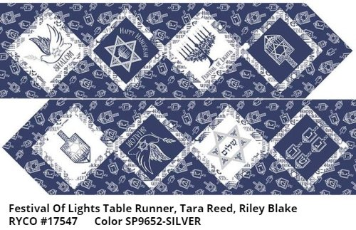 Festival of Lights Table Runner by Tara Reed for Riley Blake- Silver