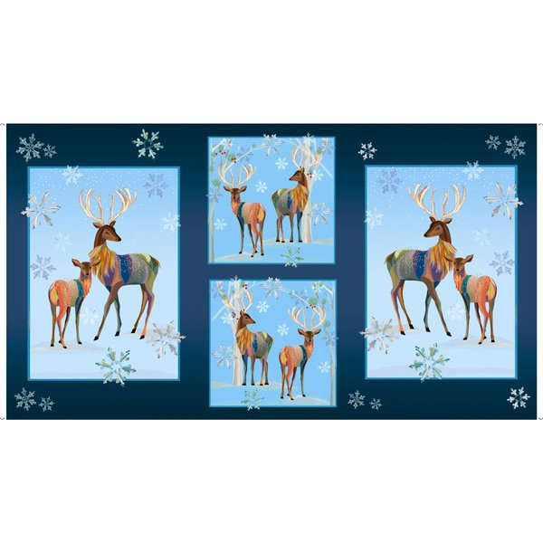 First Frost Deer Panels by Quilting Treasures
