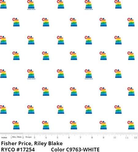 Fisher Price by Riley Blake Designs (C9763-WHITE)