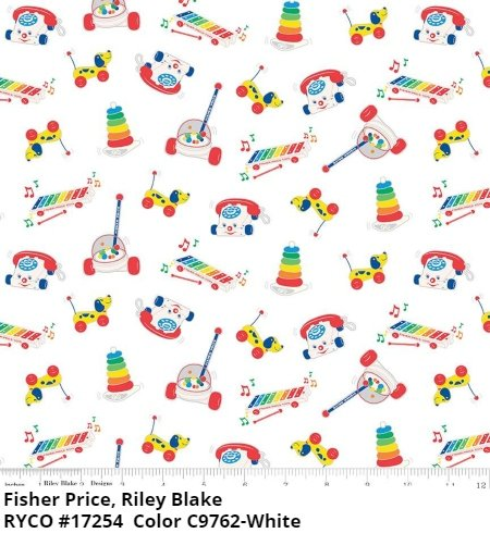 Fisher-Price White by Riley Blake Designs