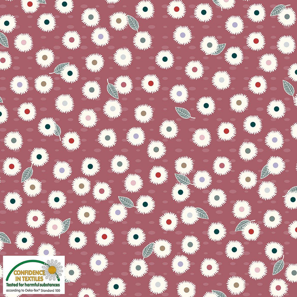 Flower and Dot by Stof Fabrics (4501-006)