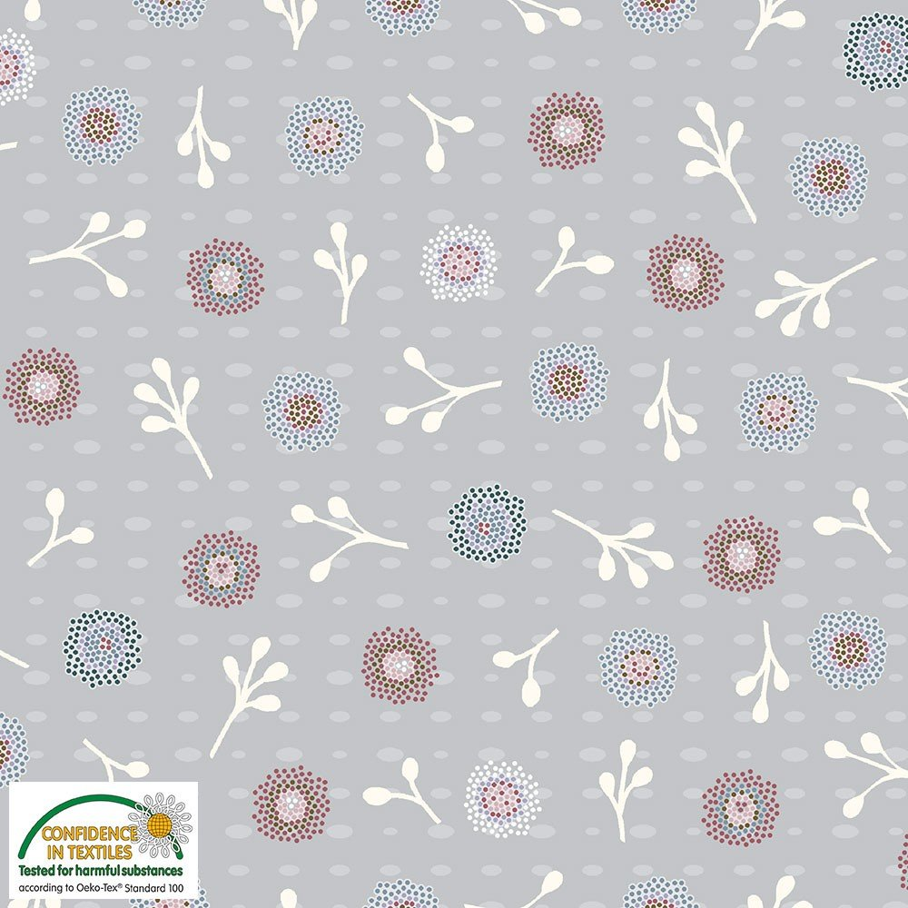 Flower and Dot by Stof Fabrics (501-009)