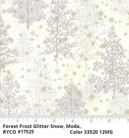 Forest Frost Glitter Snow by Moda Fabrics