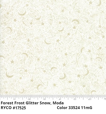 Forest Frost Glitter Snow by Moda Fabrics