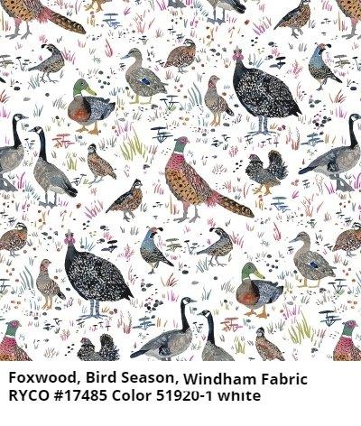 Fox Wood, Bird Season by Betsy Olmstead for Windham Fabrics