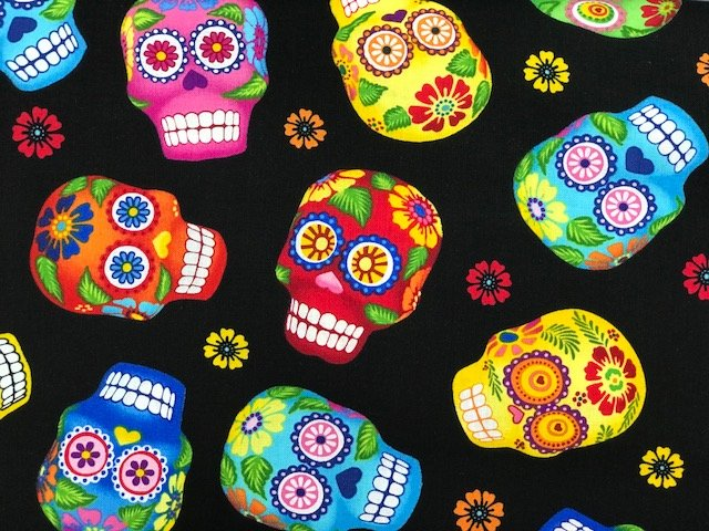 Day of the Dead by Timeless Treasures (GM-C1847-BLACK)