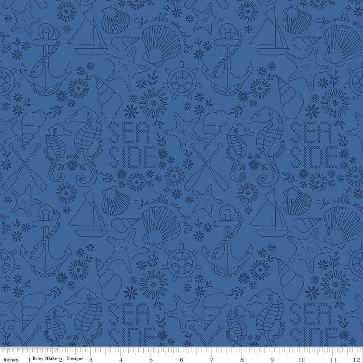 Harry and Alice Go to the Sea by Penny Rose Fabrics (C8476-BLUE)