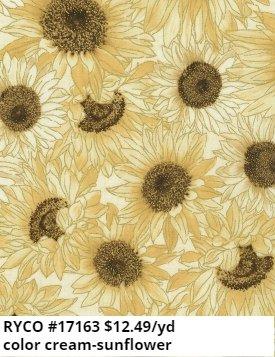 Packed Cream Sunflowers by Timeless Treasures (HARVEST-CM7695-CREAM)