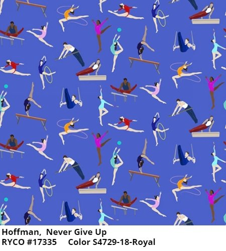 Never Give Up by Hoffman Fabrics (S4729-18 royal)