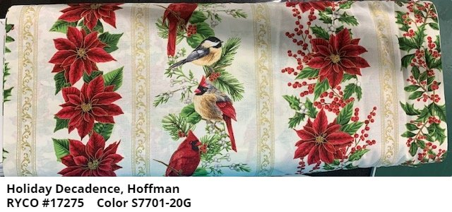 Holiday Decadence Border Print by Hoffman Fabrics