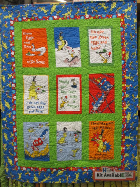 Dr Seuss Green Eggs And Ham Quilt Kit