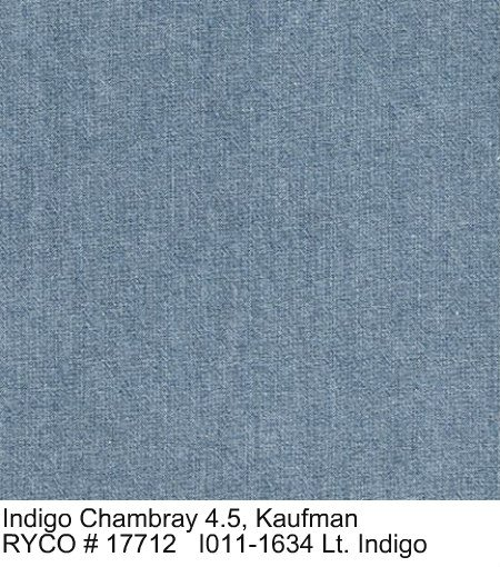 Indigo Chambray 4.5 by Robert Kaufman