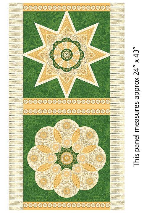 Jubilee Ruler Panel Green by Benartex