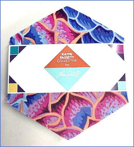 Kaffe Fassett Collective Dark Hexagon Packs by Free Spirit