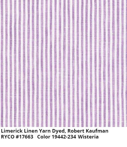 Kaufman Limerick Linen Yarn Dyed