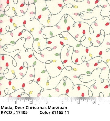 Deer Christmas by Urban Chiks & Moda (31165-11 Marzipan)
