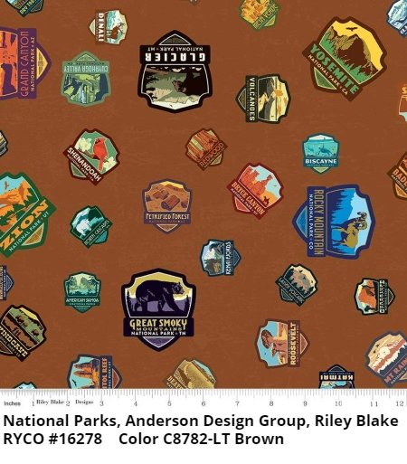 National Parks by Anderson Design Group for Riley Blake- Light Brown