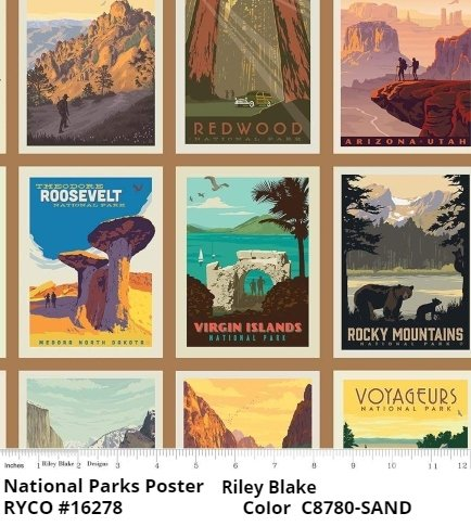 National Parks Poster by Riley Blake Designs