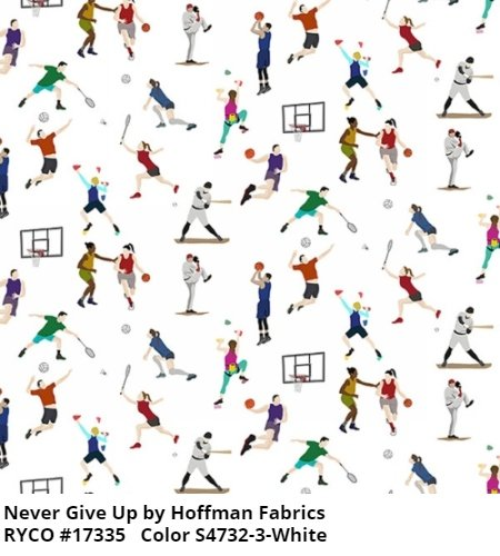 Never Give Up by Hoffman Fabrics
