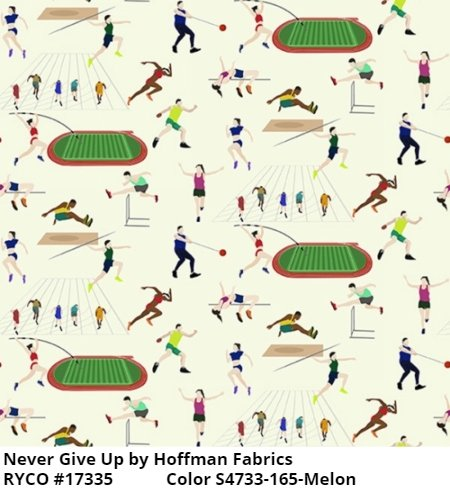 Never Give Up by Hoffman Fabrics (S4733-165-Melon)