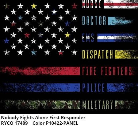Nobody Fights Alone First Responder Panel by Riley Blake