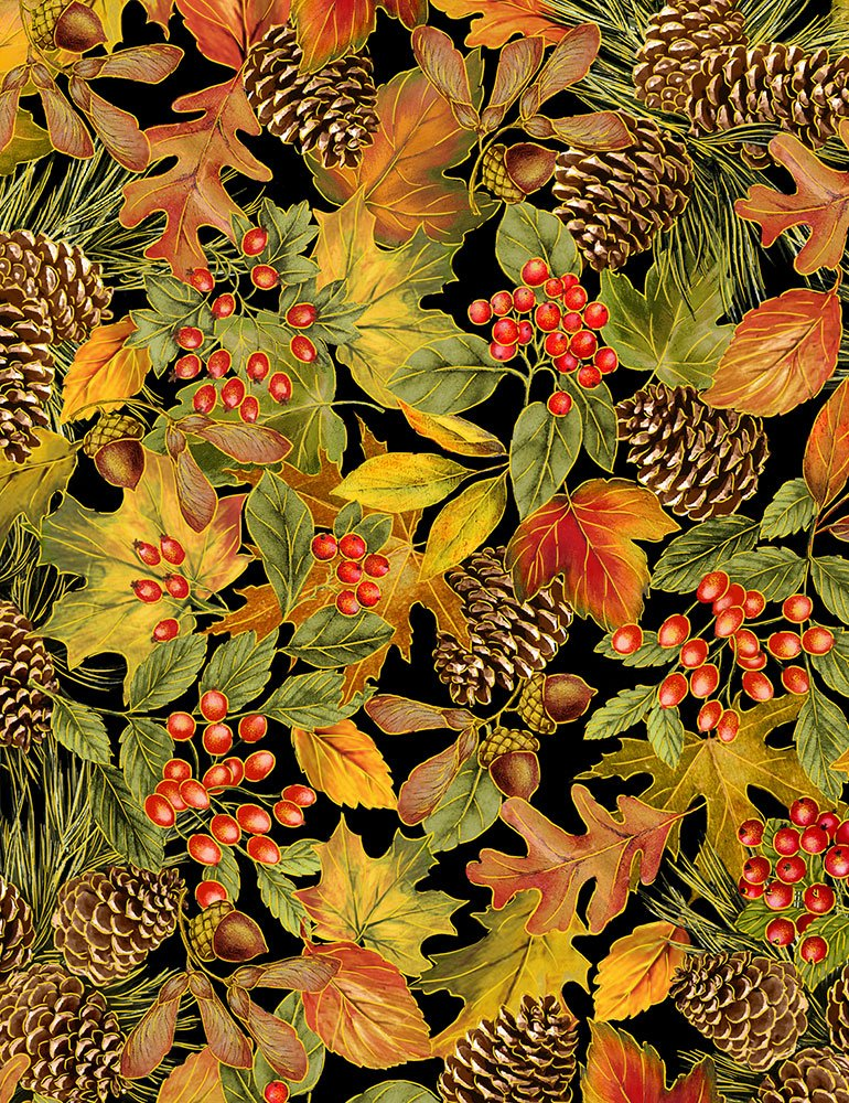 Packed Harvest Foliage by Timeless Treasures (HARVEST-CM7659-MULTI)