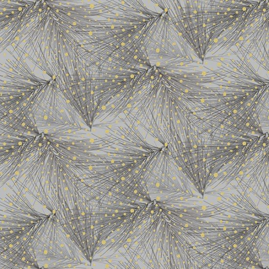 Mixed Metals by Hoffman Fabrics (Q4517-76G-Pewter-Gold)