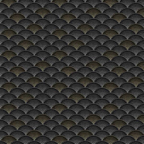 Mixed Metals by Hoffman Fabrics (Q4519-4M-Black-Metallic)