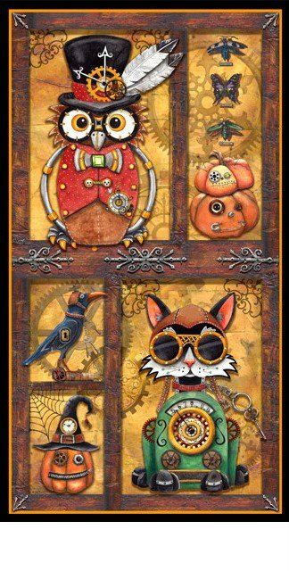 Steampunk Halloween Panel by Quilting Treasures
