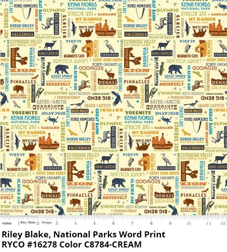 National Parks by Anderson Design Group for Riley Blake- Cream