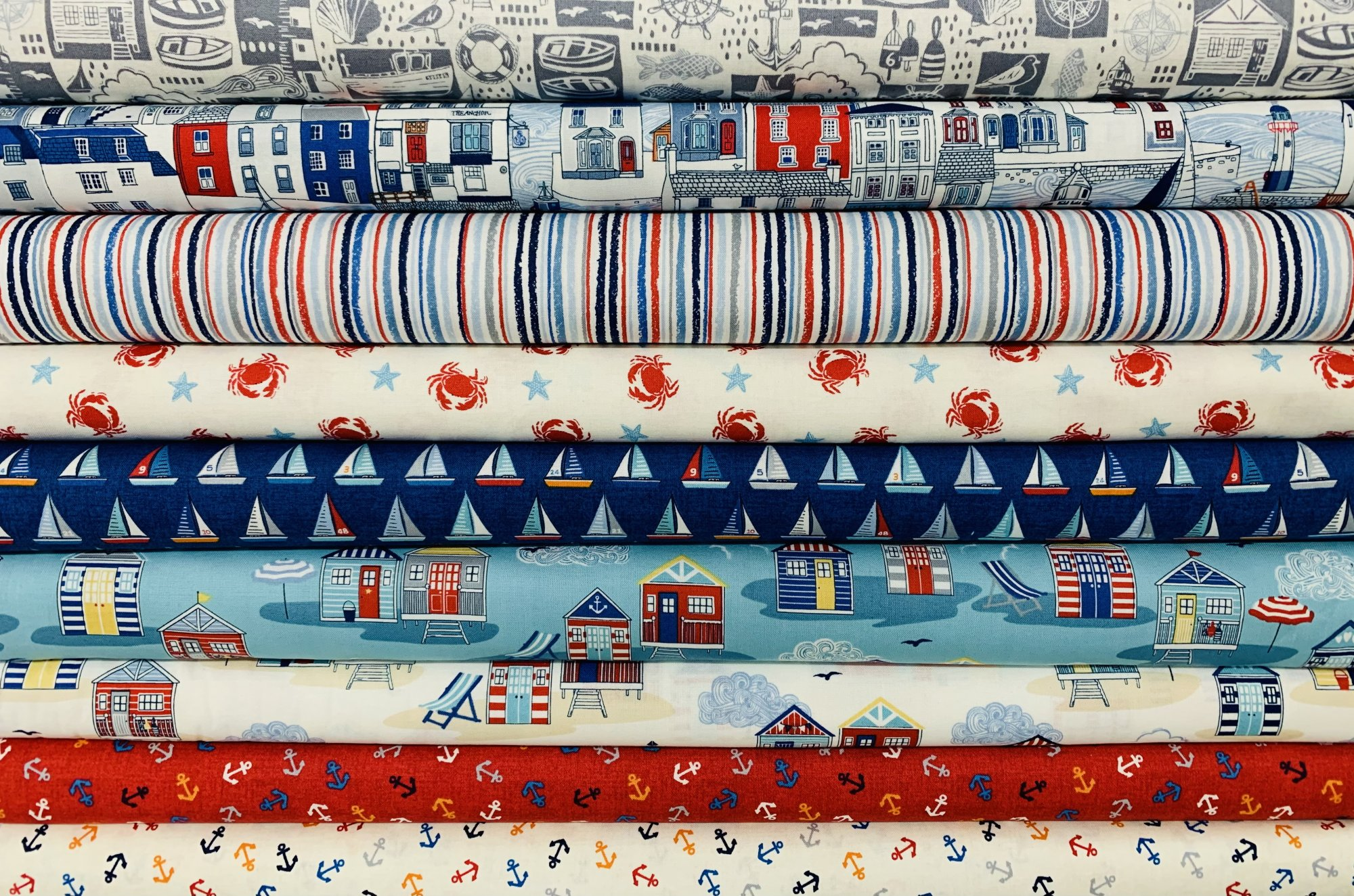 Sail Away by Makower UK for Andover Fabrics
