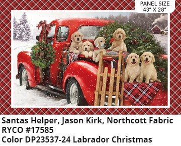 Santa Helpers Panel by Jason Kirk for Northcott Fabric