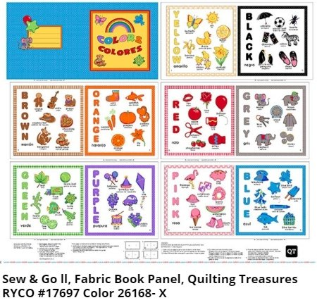 Colors Book Panel by Sew & Go II for Quilting Treasures