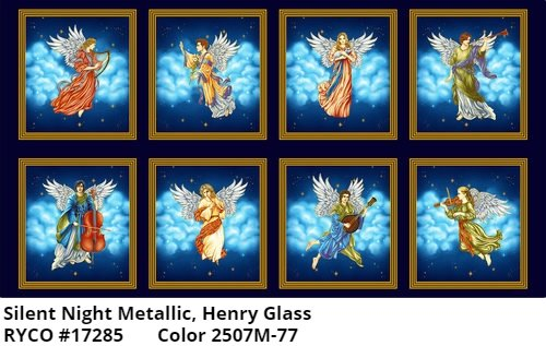Silent Night Metallic Panel by Color Principle for Henry Glass & Co
