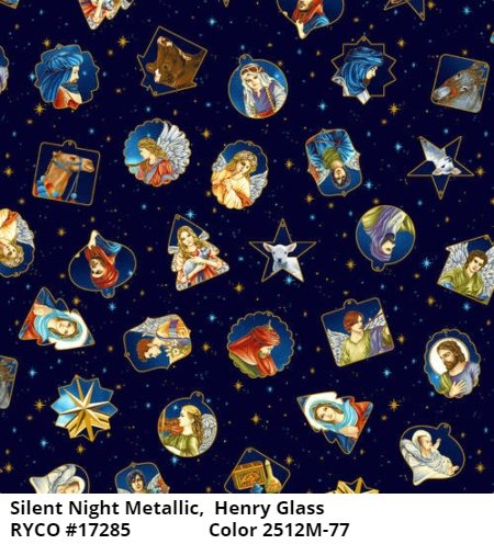 Silent Night Metallic by Color Principle for Henry Glass & Co