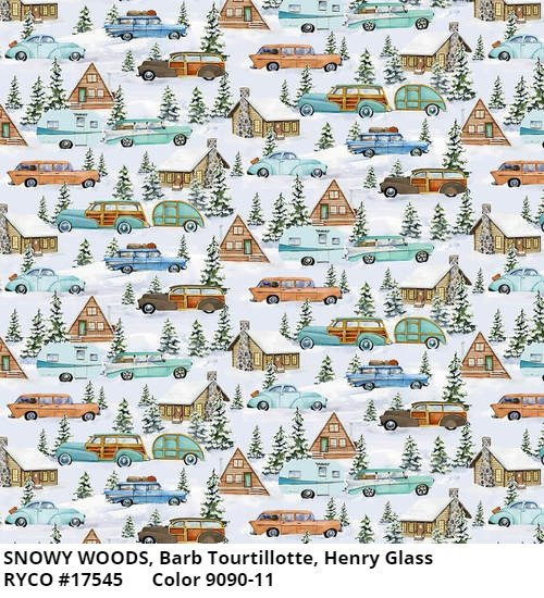 Snowy Woods by Barb Tourtillotte for Henry Glass