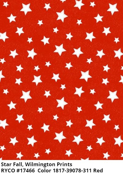 Starfall by Wilmington Prints- Red
