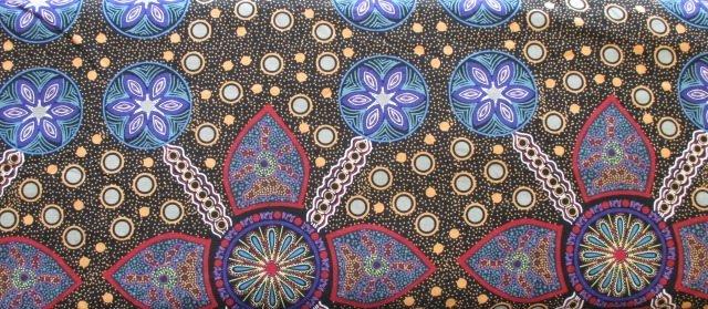 Australian Prints by M&S Textiles (STELLA-BLACK)