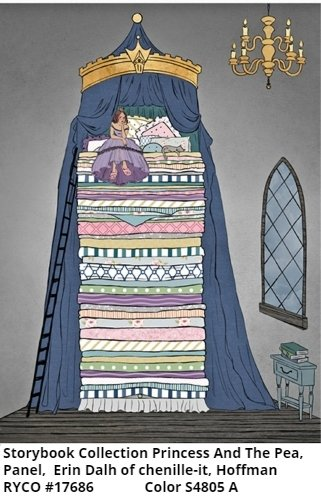 The Storybook Collection: Princes and the Pea by Hoffman Fabrics-PANEL